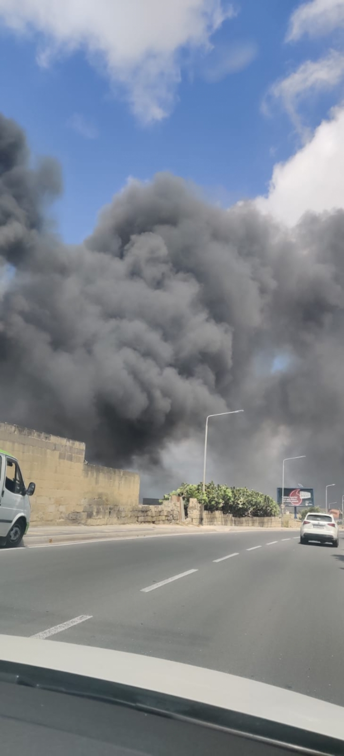 Fire inside Attrans complex in Qormi brought under control