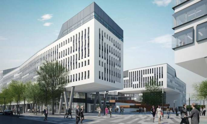 Yet to be built, the Austria Campus