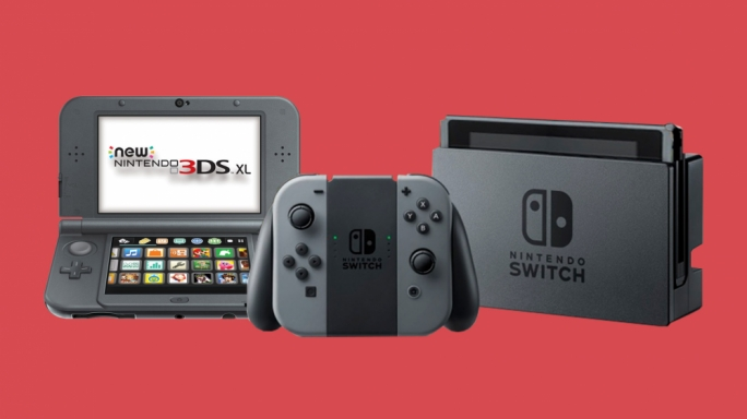 The Nintendo 3DS (left) and Nintendo Switch (right)