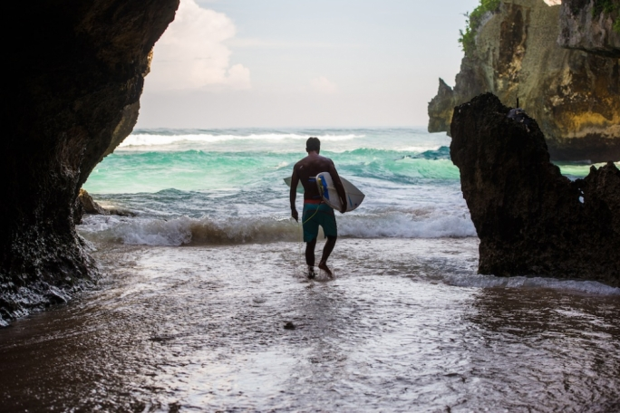 Surf's up on the shores of Bali