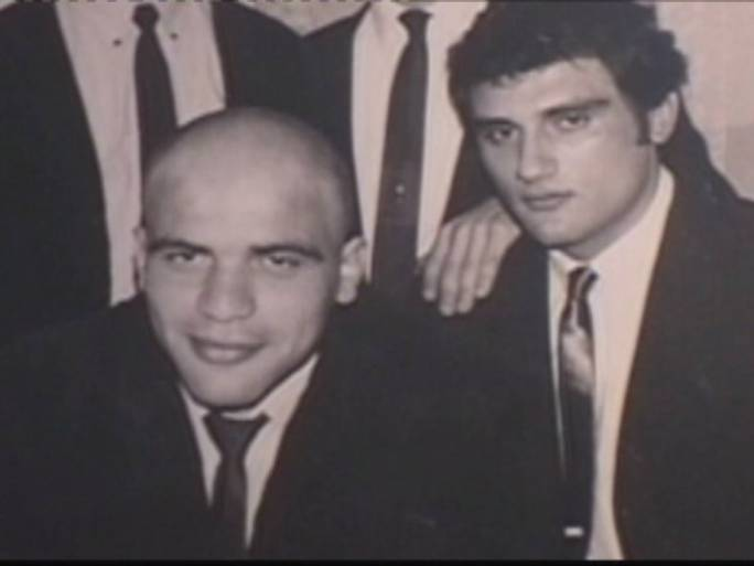 A young Camilleri with Freddie Portelli