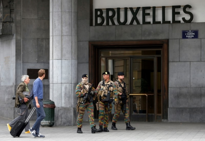 Two police officers stabbed in suspected terror attack in Brussels