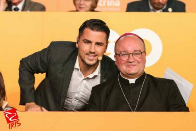 With number one fan, Archbishop Charles Scicluna