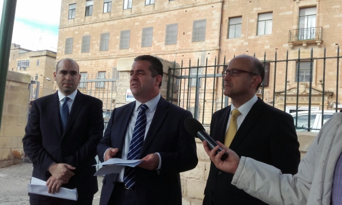 PN deputy leader Beppe Fenech Adami, shadow minister Jason Azzopardi and Karol Aquilina, president of the party's administrative council, addressed the press conference
