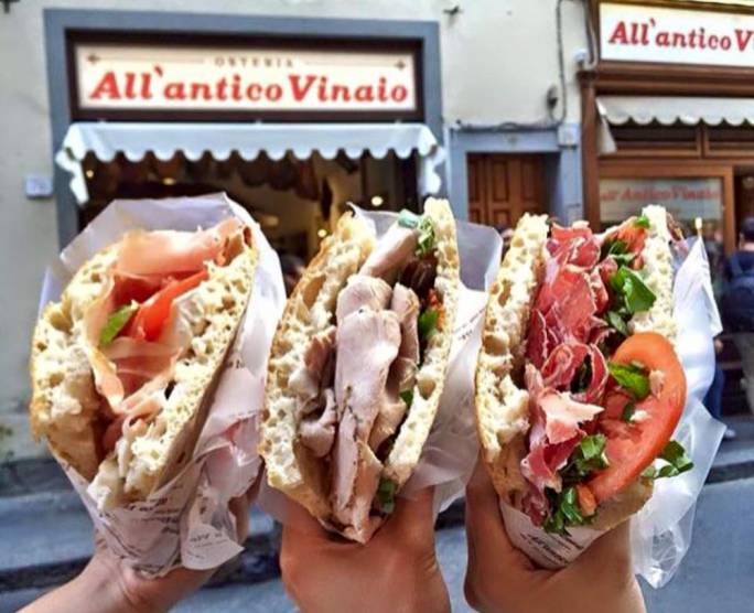 It is well worth braving the queues outside All'Antico Vinaio to get your hands on Florence's best sandwiches