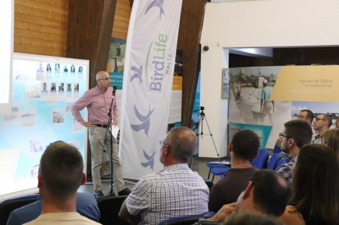 Birdlife CEO Mark Sultana addressing the AGM