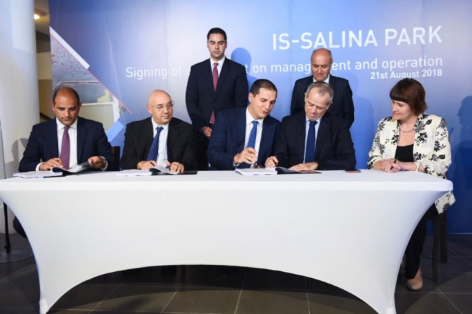 The Transport Ministry, Environment Ministry, ERA, Lands Authority and BirdLife Malta signed a five-year agreement. (Photo: James Bianchi/MediaToday)