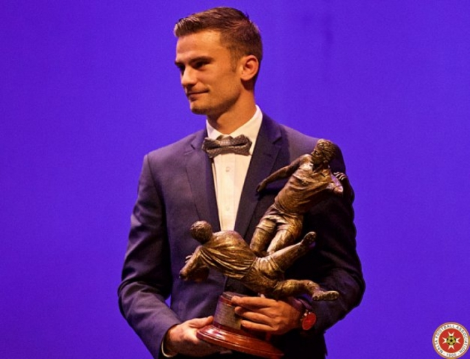 Bjorn Kristensen is MFA footballer of the year 2017. Photo: Paul Zammit Cutajar/MFA
