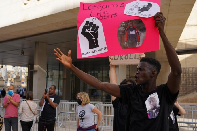 The Justice for Lassana memorial coincided with global Black Lives Matters protests
