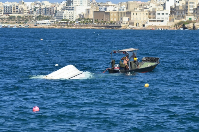 Fishing trawler capsizes at Fekruna Bay