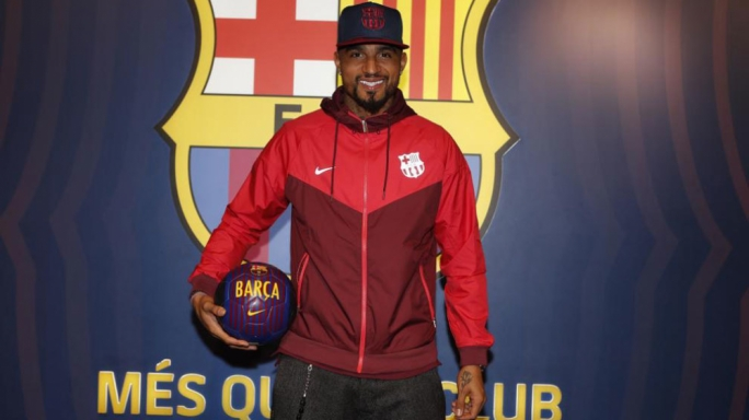 Kevin-Prince Boateng makes 'dream' loan move from Sassuolo to Barcelona