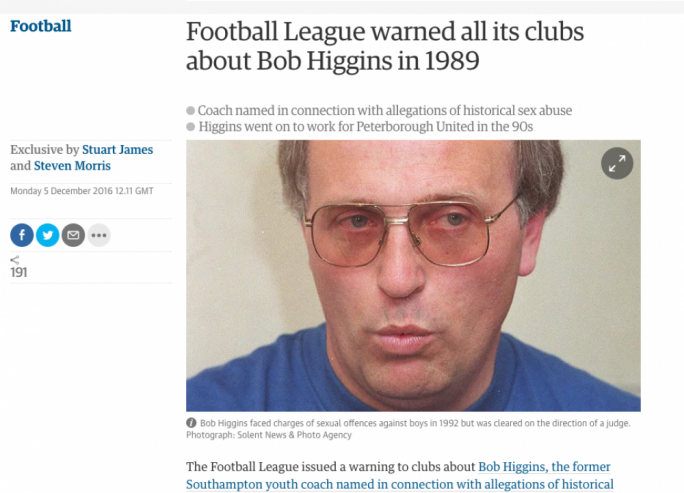 English football manager sex scandal