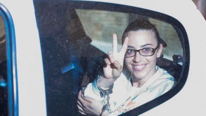 Joelle Galea being taken to court this morning (Photo: James Bianchi/MediaToday)
