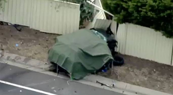 The car Lorry and Doreen Pulis were in (Source: 7 News)