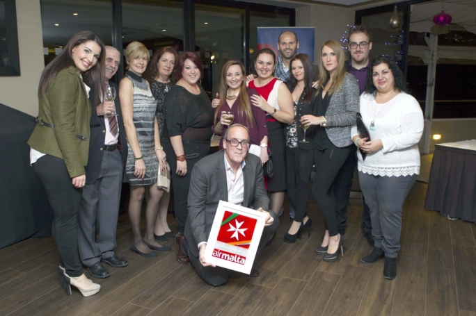 Britannia Services staff together with Managing Director Noel Farrugia
