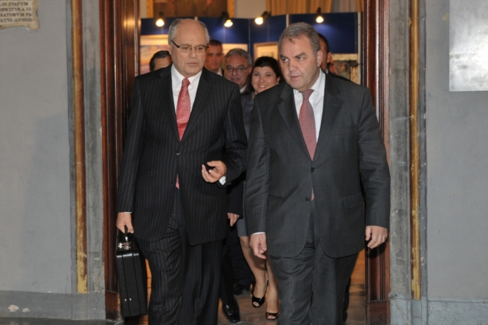 Finance Minister Edward Scicluna and Speaker of the House Anglu Farrugia
