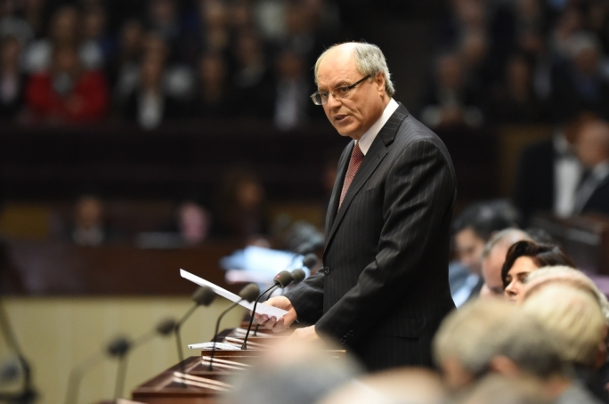 Finance Minister Edward Scicluna presenting the Budget to parliament.