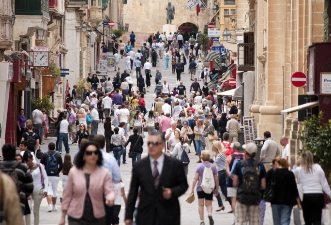Malta's population now stands at 475,700
