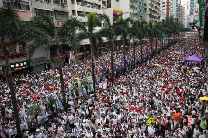 Organisers estimate that one million people took part in Sunday's march, however police put the figure at 240,000 at its peak