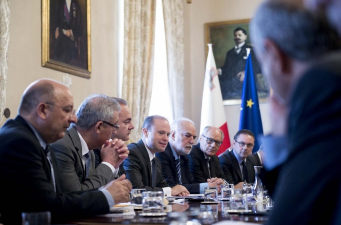 The first meeting of Joseph Muscat's second legislature Cabinet