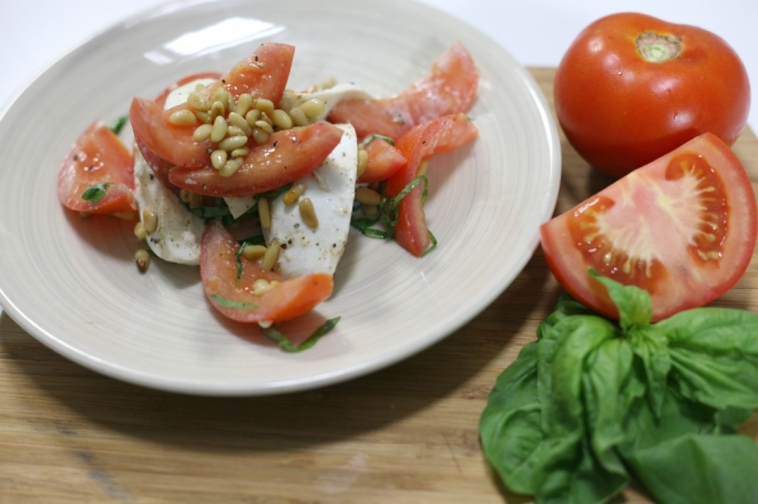 Kiddy-friendly caprese salad
