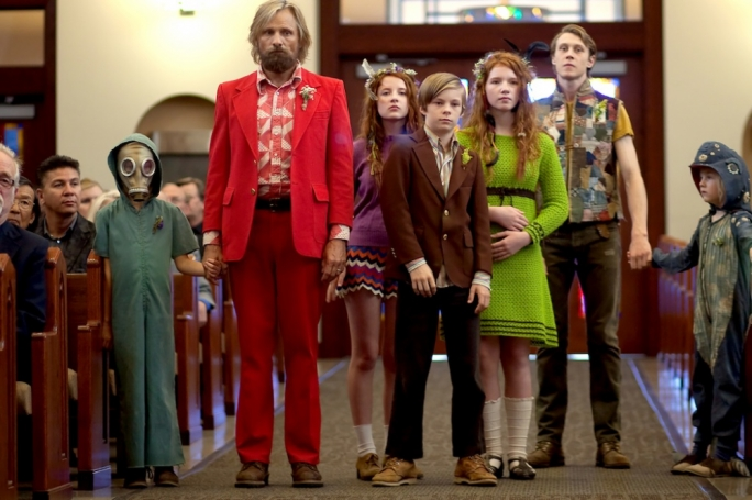 Quirky does it: Viggo Mortensen (second from left) takes an unconventional route to parenting in actor Matt Ross' directorial debut