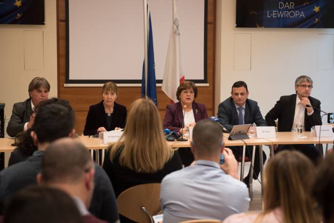 A delegation of MEPs carried out a fact-finding mission in Malta on the rule of law