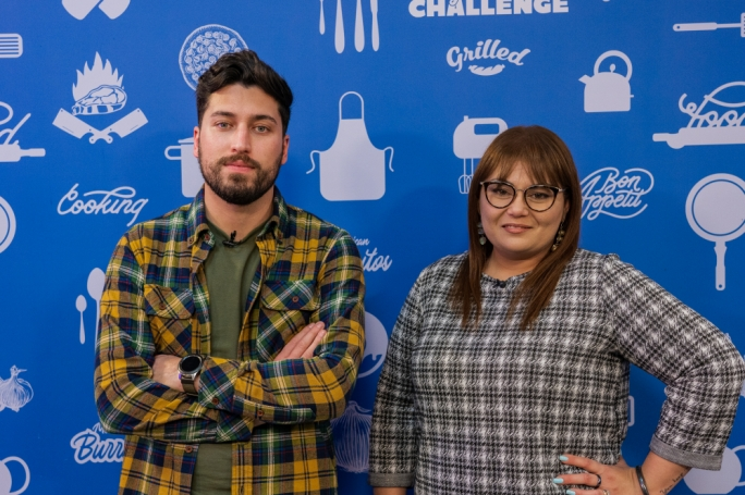 Carlo Gerada and Annalise Lovegrove on Gourmet Challenge