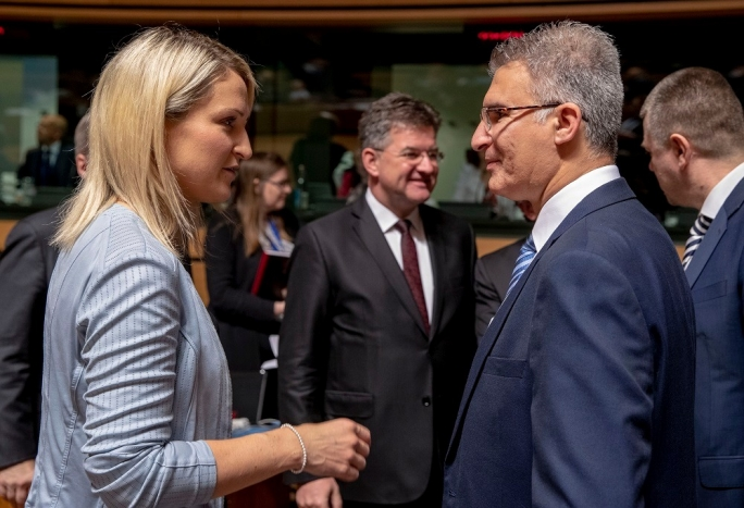 Foreign Minister Carmelo Abela with Helen McEntee, Irish Minister of State at the Foreign Ministry