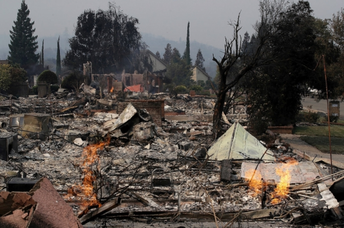 A burned row of houses is just an example of the devastating aftermath of the fires (Photo: East Bay Times)