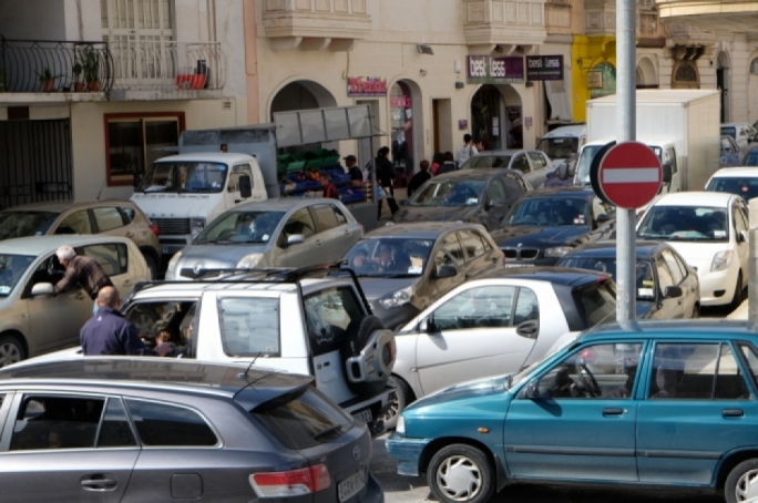 The number of cars on Malta's roads rose by 3.3% between June 2018 and June 2019