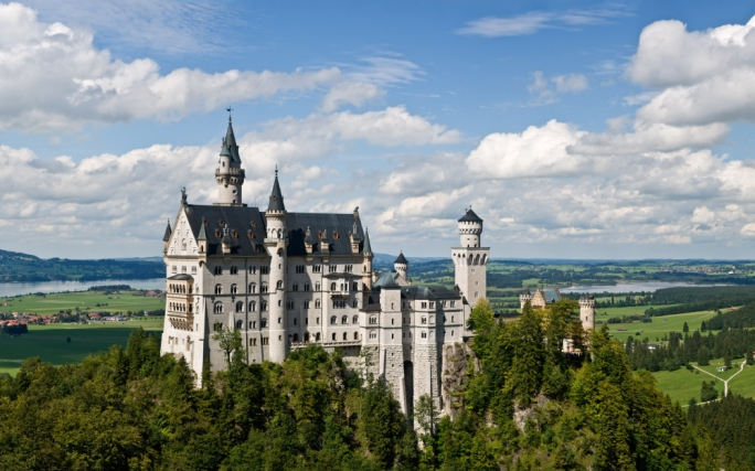 The castle of Neuschwanstein was the inspiration for Cinderella's castle
