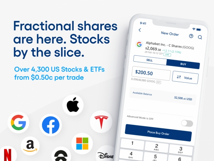 CCTrader launches fractional shares and new lower rates