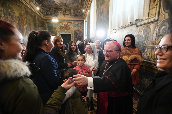Archbishop Charles Scicluna greeting well-wishers during the Christmas season