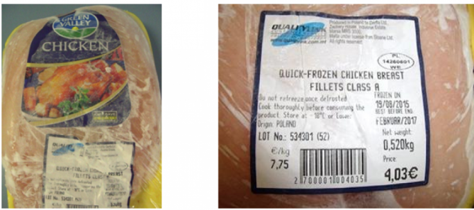 Salmonella warning in chicken breast fillets