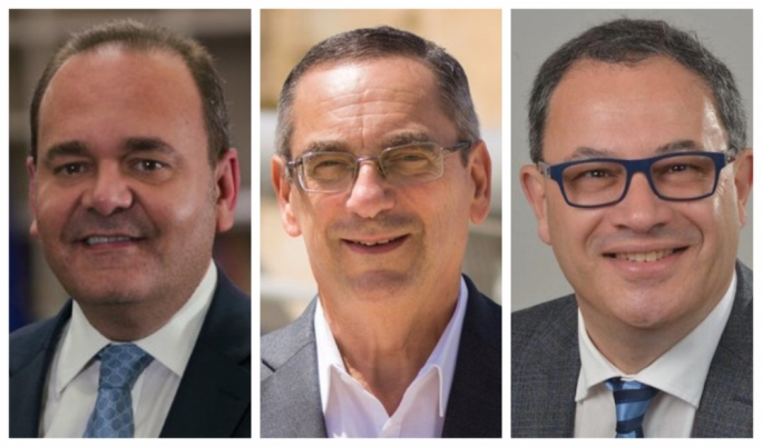Chris Cardona (left), Joe Mizzi and Anthony Agius Decelis have been left out of Cabinet