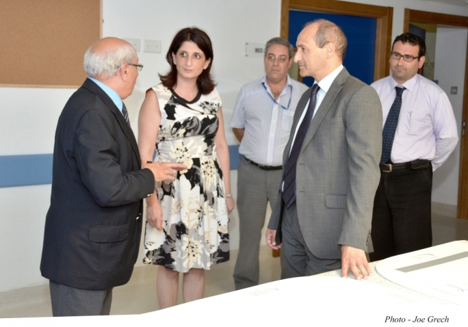 Parliamentary secretary for health Chris Fearne with the Gozo hospital's management