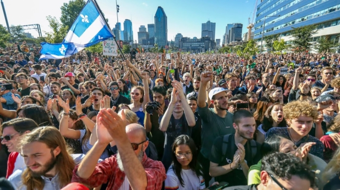 An estimated 500,000 people attended the rally in Montreal