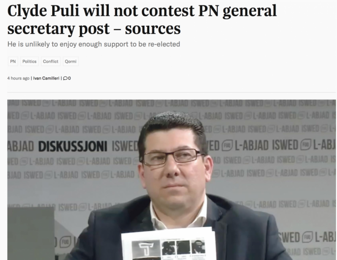 The report in Times of Malta speculating on Puli's future