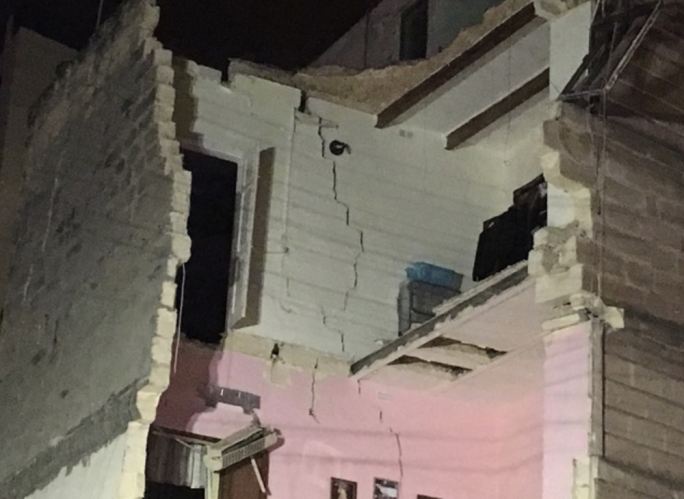 Apartment block collapses in Guardamangia