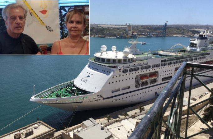 [WATCH] Maltese elderly couple on aborted cruise brought ashore