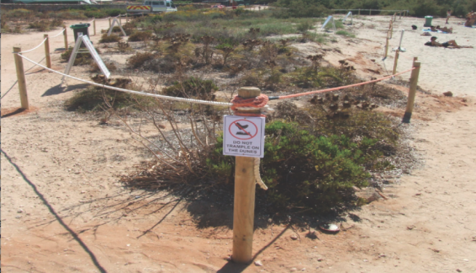 ERA cordoned sand dunes at Santa Marija Bay in order to protect them from trampling