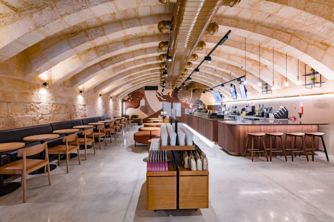 Gorgeous: the Starbucks coffeehouse at the Valletta Waterfront. Photo: Zak Farrugia/Mediatoday
