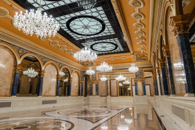 Lavish interior at the Bucharest hotel