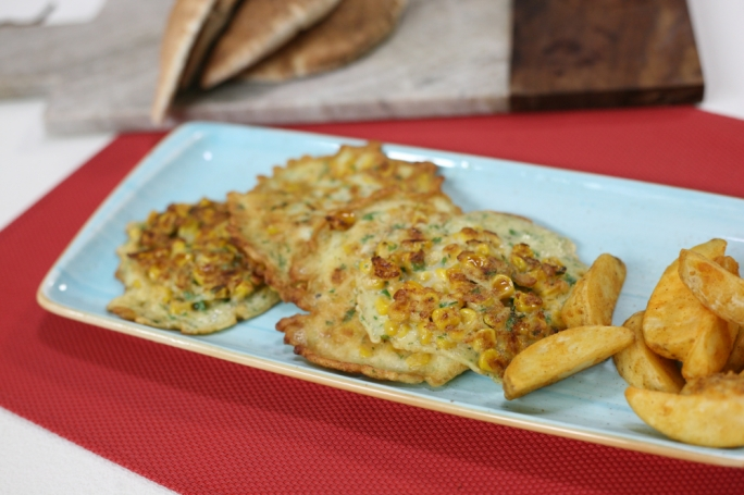 Corn and dill fritters