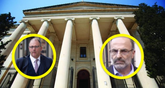 Peter Caruana Galizia (left) and Pawlu Lia clashed in court