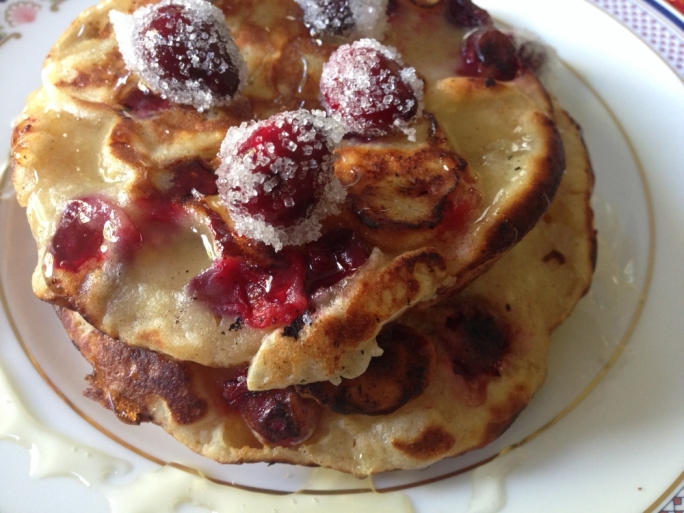 Ricotta and cranberry hotcakes