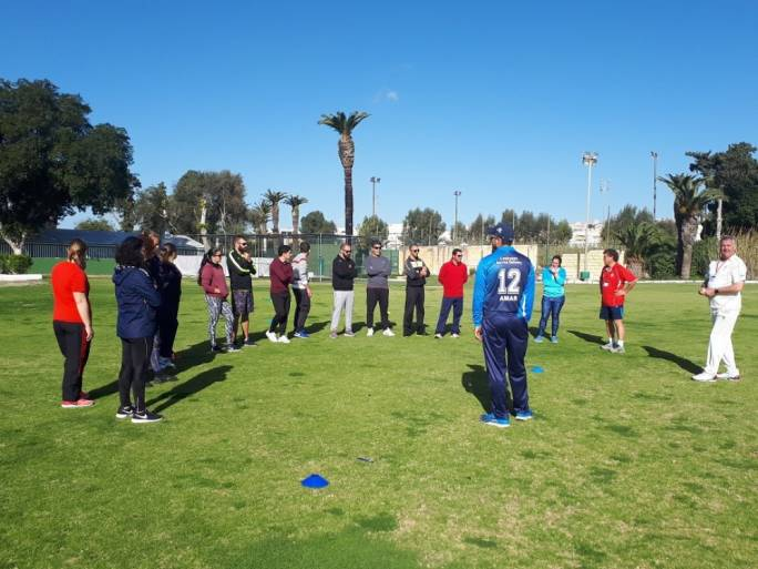 Over 50 new coaches for the launch of Malta Schools Cricket Project
