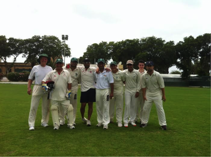 A jubilant Marsa team after their 2nd win in the Malta Cricket League