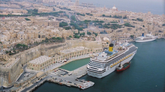 Fewer cruise liners visited Malta last year, contributing to a drop in passengers